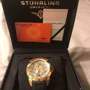Stuhrling rose gold men's rose gold watch